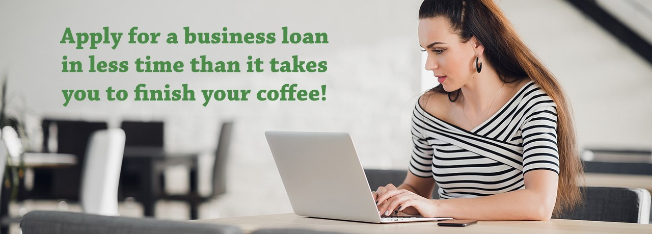 lady applying for a business loan on her laptop