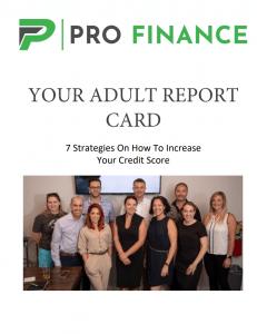 Profinance Adult Report Card PDF