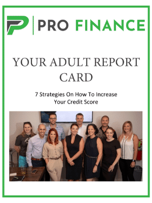 Profinance Adult Report Card PDF